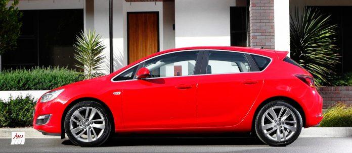مقایسه اپل آسترای هاچبک اپل آسترا (OPEL ASTRA) با خودروهای همرده