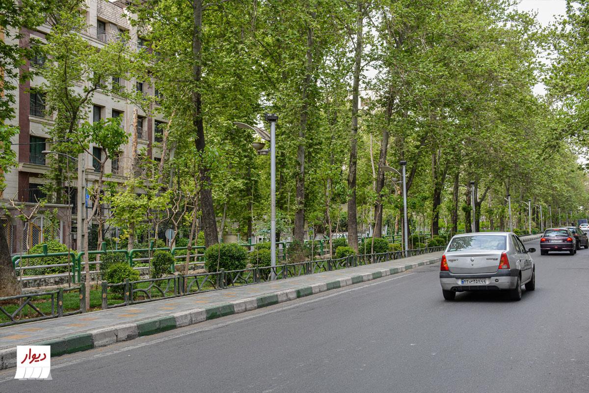 عکس خیابانی در محله دروس