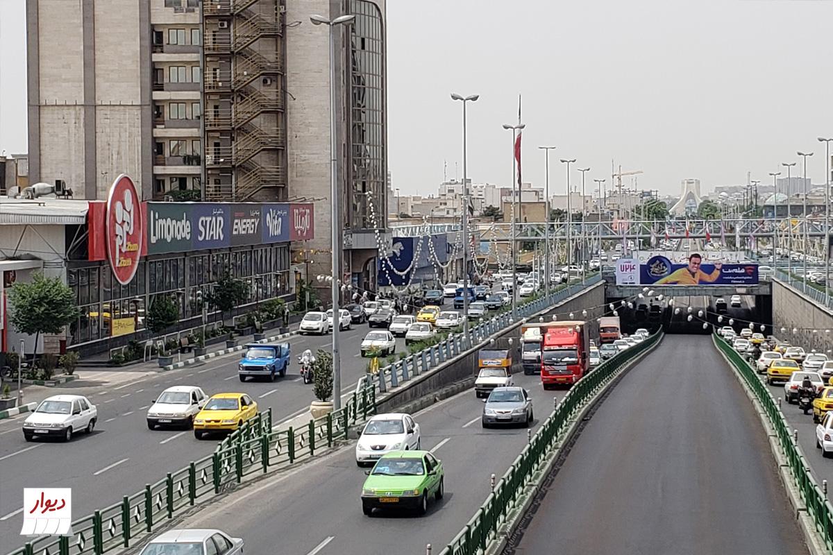 عکس خیابان جیحون تهران