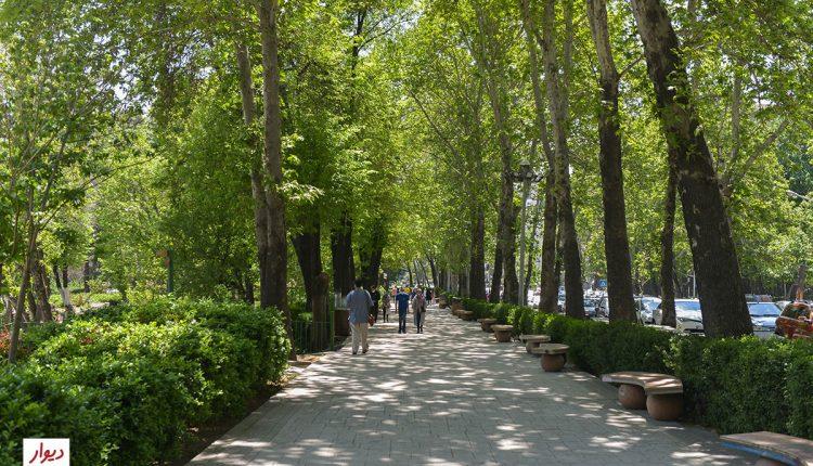 بوستان در محله نیاوران تهران