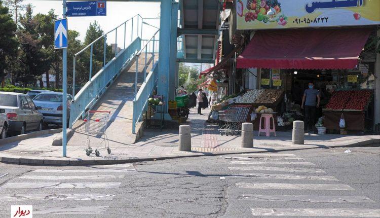 ورودی خیابان پاتریس لومومبا در ستارخان