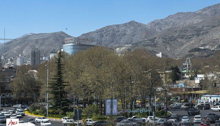 میدان تجریش در شمال محله تجریش