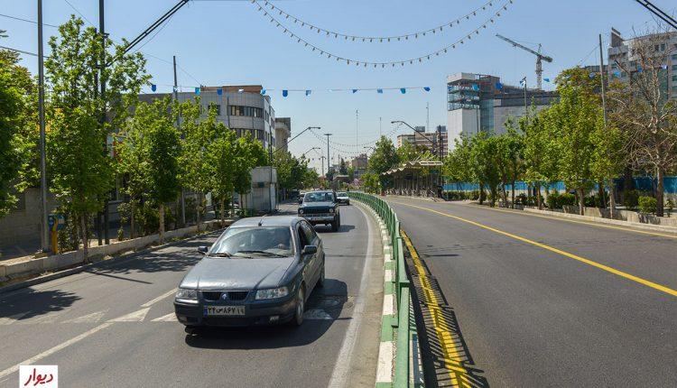 خیابانهای مجاور میدان ونک