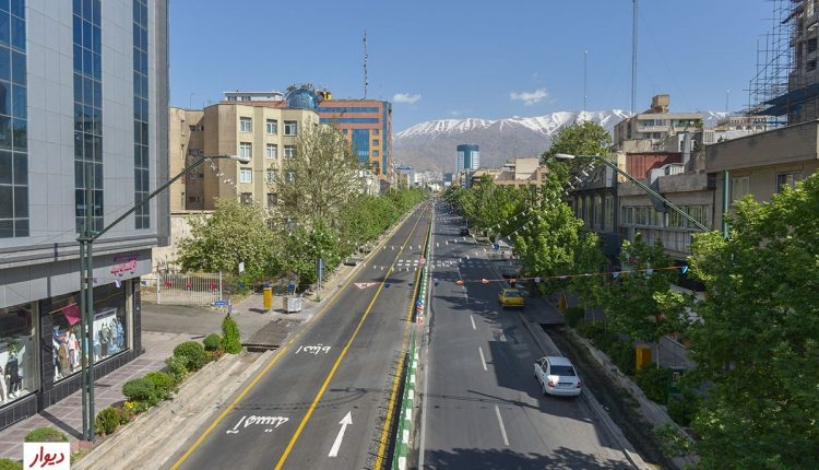 خیابان منتهی به میدان ونک