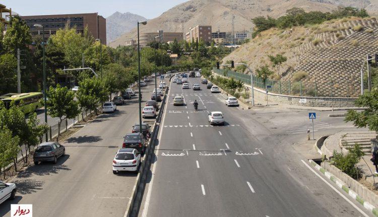 یکی از خیابانهای ولنجک تهران