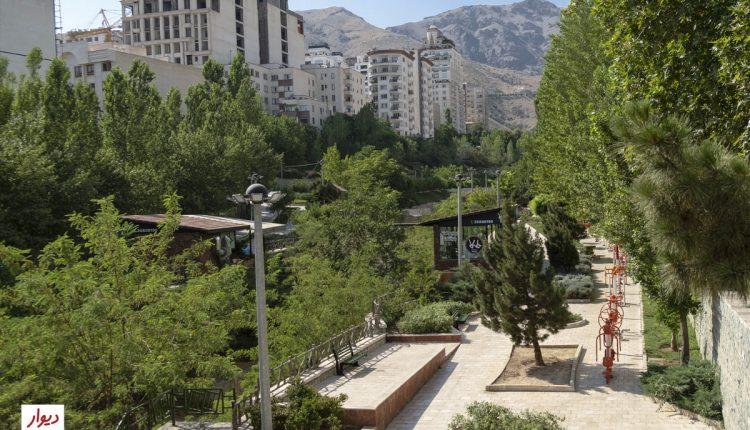 بوستانی در محله ولنجک تهران