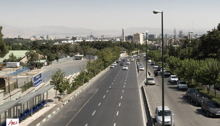 خیابانی در ولنجک تهران